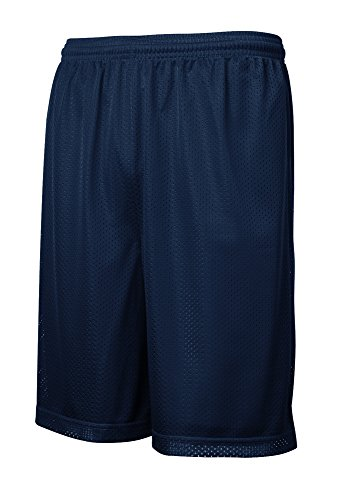 Joe's USA - Mens Moisture Wicking Mesh Athletic Shorts-S True Navy Classic Logo Mesh Shorts