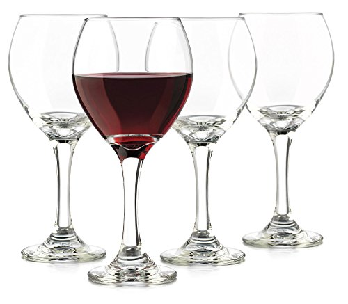 Libbey 13.5-Ounce Classic Red Wine Glass, Clear, 4-Piece (Red And White Wine Glasses compare prices)