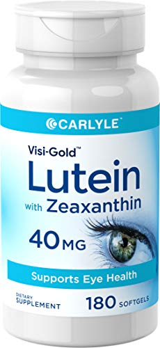 Carlyle Lutein 40 mg with Zeaxanthin 180 Softgels – Supports Eye Health, Maximum Strength – Non-GMO, Gluten Free Supplement