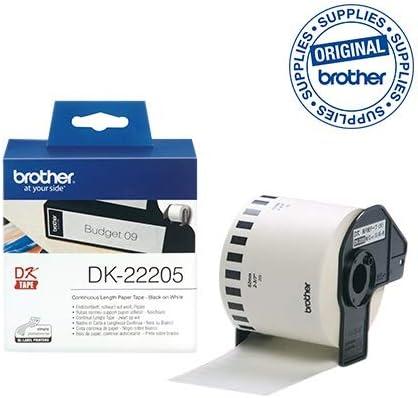 2 Compatibles Rollos DK22205 DK-22205 62mm x 30.48m Etiquetas continuas para Brother P-Touch QL-500 QL-550 QL-560 QL-570 QL-700 QL-720NW QL-800 QL-810W QL-820NWB QL-1050 QL-1060N QL-1100 QL-1110NWB
