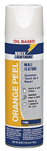 White Lightning W5A001500 Orange Peel - Oil-Based Wall Texture, Fine, 20 OZ