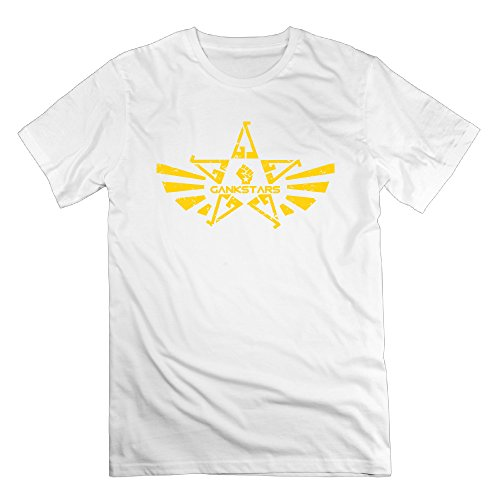 Gankstars White Men's Sport Shirt For Man Size S