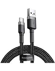Baseus Cafule Cable - USB naar USB-C Connect en oplaadkabel 2 A, 2 M (grijs/zwart)