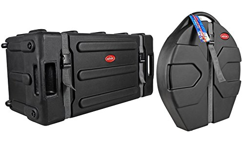 SKB 1SKB-DH3315W Mid-Sized Drum Hardware Case+Pull Out Handle+Wheels+Cymbal Case