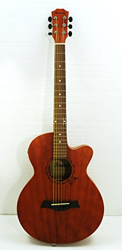 38'' Electric Acoustic Cutaway Steel String Guitar by Harmonia