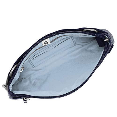Navy Travel Clutch Bundle Convertible Wristlet RFID Shoulder Earphones Crossbody Bag Baggallini FZqvawgp