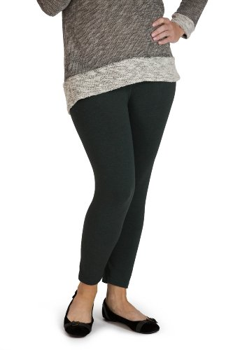 Fishers Finery EcoFabric Capri Legging; Casual Lounge Legging (Dark Sage, S) (Sage Lounge)