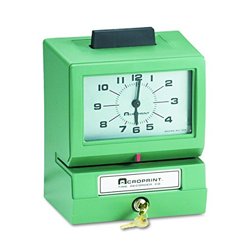 Acroprint 125AR3 Heavy Duty Manual Time Recorder for Day of the Week, Hour (1-12) and Minutes Time Clock Photo #2