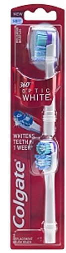 Colgate 360 Degree Optic White Replacement Brush Heads, Soft 1 ea (Pack of 3)