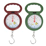 DHmart Portable Mini Weighing Scale for Fishing Luggage Pocket Scale Numeral Pointer Hook Hanging Scales Libra