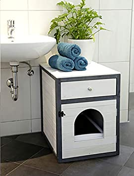 45 x 58 x 60 cm Kerbl Cat House White//Grey