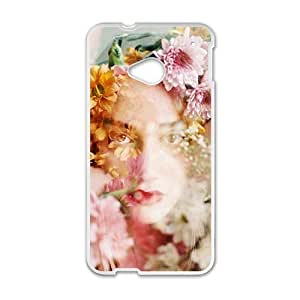 Glam Flower Girl Creative Cell Phone Case For HTC M7