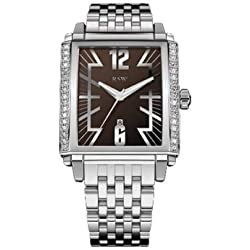 RSW Men's 4220.BS.S0.9.D1 Hampstead Sapphire Crystal Brown Dial Chronograph Diamond Watch