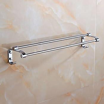 Kaxima Stainless steel double rod bathroom towel rack hardware accessories 60cm