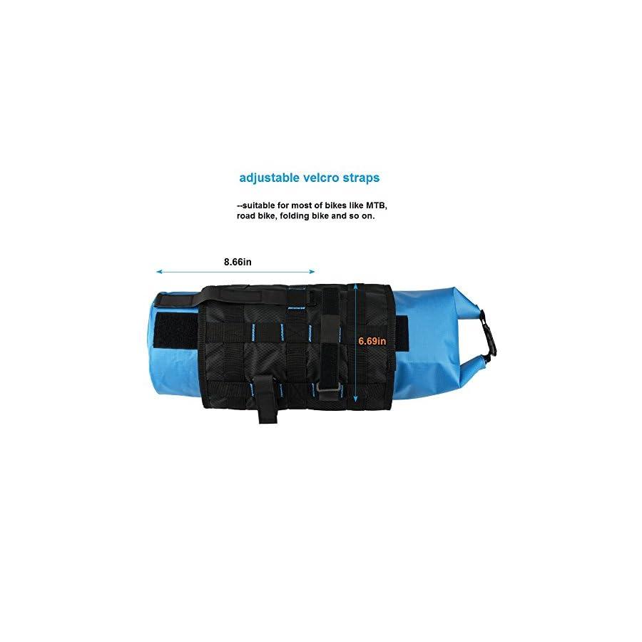 BicycleStore Bicycle Handlebar Bags Waterproof MTB Front Tube Basket Pannier Accessories Large Capacity Detachable Bike Bags 3 7L Blue