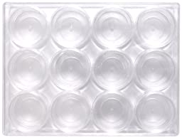 Shipwreck Beads Plastic Bead Storage Box with 12 Jars, 120 by 160 mm, Clear
