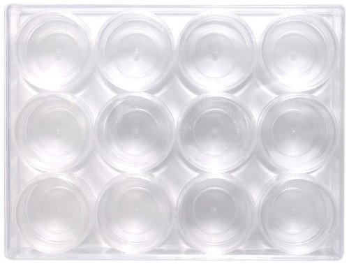 Shipwreck Beads Plastic Bead Storage Box with 12 Jars, 120 by 160 mm, Clear by Shipwreck Beads