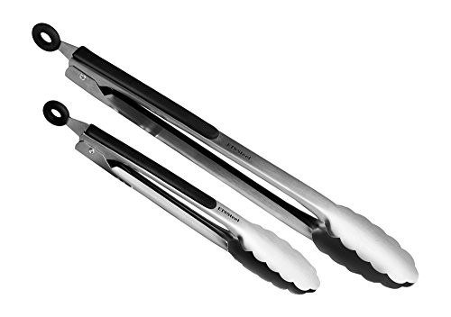 "Premium Quality 9"" And 12"" Stainless Steel Pair Of Kitchen Tongs – Super Sturdy & Durable Construction – Easy To Store & Dishwasher Safe – Convenient Grip Handles – Ideal For Home & Professional Use"