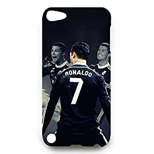 The Popular Customeried Ronaldo Phone Case,Ipod touch 5 Phone Case Cover For Black Ipod touch 5