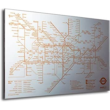 suck uk tube map mirror london underground 750 x 520mm