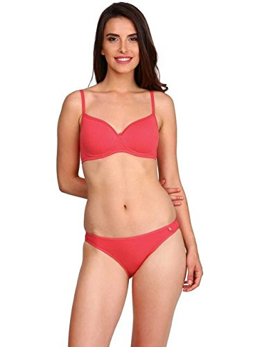 b9b98eba56395 Jockey Women s Spandex Non-Wired Padded Bra (Ruby