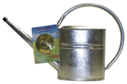 Haws Slimcan Galvanized Watering Can with Round Rose, 2-Gallon/8-Liter