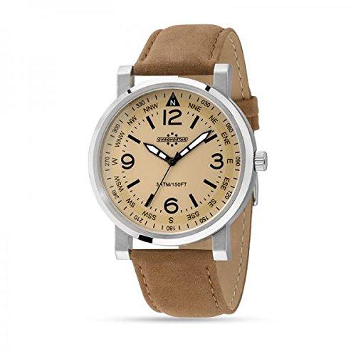 Wristwatch Man Chronostar By Sector Aviator R3751235003 beige leather suede