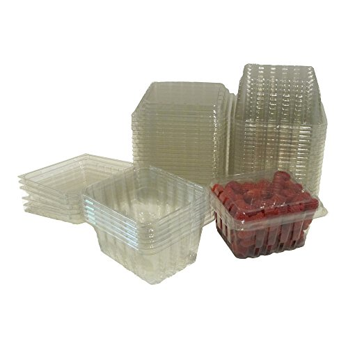 (Plastic Clamshell Containers for Berries, Cherry Tomatoes, and Other Small Produce (Pack of 60))