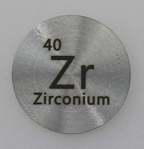 (Zirconium (Zr) 24.26mm Metal Disc 99.4% Pure for Collection or Experiments)