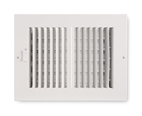 Accord ABSWWH2106 Sidewall/Ceiling Register with 2-Way Design, 10-Inch x 6-Inch(Duct Opening Measurements), White (Way 2 In 6)