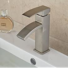 Rozin Brushed Nickel Single Handle Basin Faucet Deck Mount One Hole Vanity Mixer Tap