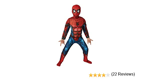 Marvel - Disfraz de Spiderman Deluxe para niños, 8-10 años ...