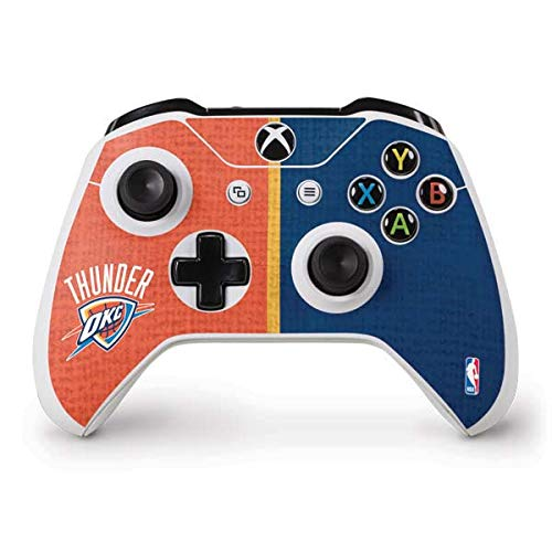 Skinit OKC Thunder Split Xbox One S Controller Skin - Officially Licensed NBA Gaming Decal - Ultra Thin, Lightweight Vinyl Decal Protection ()