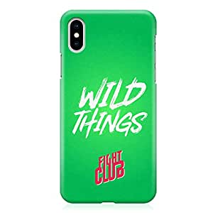 Loud Universe Movie Quote Fight Club Wild Things Fight Club iPhone XS Case with 3d Wrap around Edges