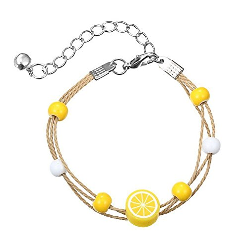 Greatestin Gifts Lemon Sweethearts Watermelon Fruit Shaped Pear Bracelets Hand Chain Fashion Jewelry Bangles