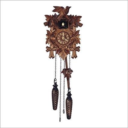 Alemán Reloj de cuco - con mecanismo de cuarzo - tallado en madera - 23 cm