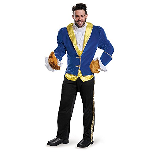Disguise Men's Beauty and The Beast Prestige Costume, Blue, (Men's Beast Costume Beauty Beast)