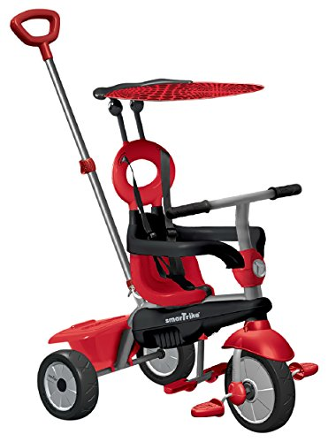 smarTrike Zoom 4 in 1 Baby Tricycle Red