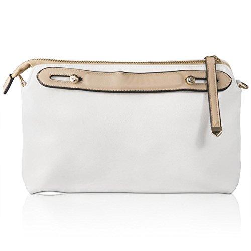 Xardi London nuevo grande con cremallera funda para mujer, Clutch, bolsos de viaje de maquillaje blanco