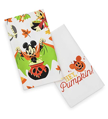 Disney Parks Authentic Mickey Mouse Halloween Kitchen Dish Bath Hand Towel -