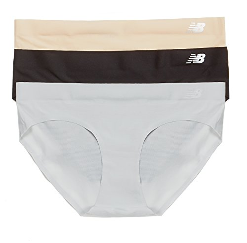 New Balance Mujer respirar Hipster Panty 3-Pack Nude/Black/Concrete Grey