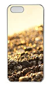 Flashing textures Polycarbonate Hard Case Cover for iPhone 5/5S ¡§C Transparent