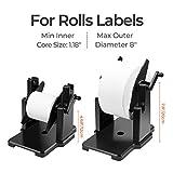 MUNBYN External Rolls Label Holder, 2 in 1 Fan-Fold