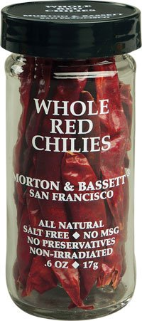 Morton & Bassett Whole Red Chilies, .5-Ounce Jars (Pack of 3) (Pod California Chili)