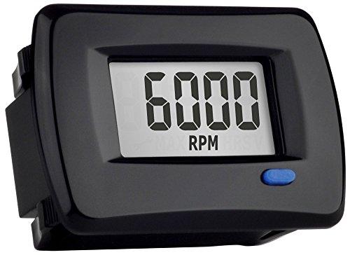 Trail Tech 732-A00 Black Panel Mount TTO Digital Tachometer plus Hour Meter