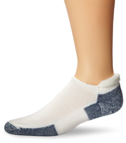 Thorlos Thick Padded Running Roll Top Sock White L