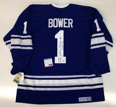 11a7512d1 Johnny Bower Autographed Jersey - 1967 Ccm Psa dna Certified at ...