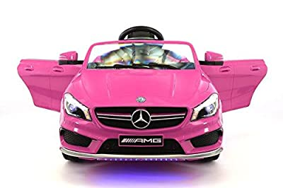 Licensed Mercedes CLA45 12V Kids Ride-On Car MP3 USB Player Battery Powered RC Parental Remote Toy