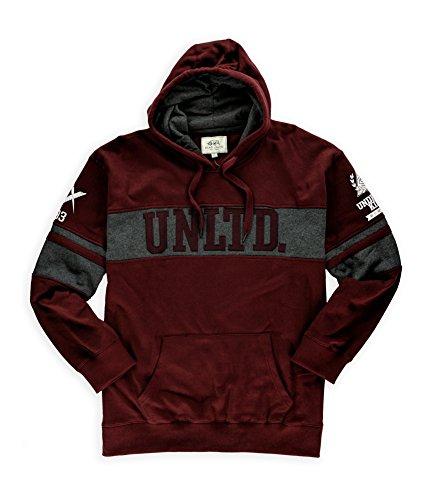 Ecko Unltd. Mens Underwraps Crew Hoodie Sweatshirt Winered M