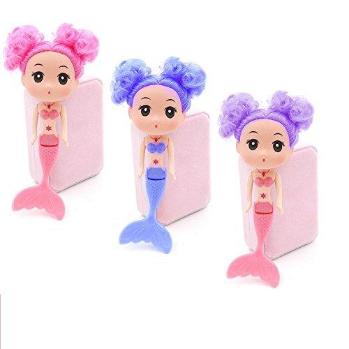 NLQSNET Mermaid Doll Toy 16cm for Girls Birthday Gifts Cake Decoration ornaments Sand castle Swimming Pool Bath doll 1 Piece (Random Color) (tie hair) (Swimming Ornaments Pool)